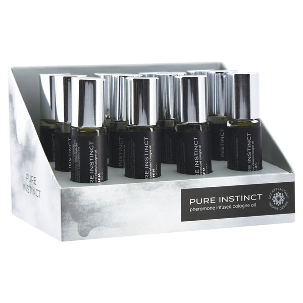 Pure Instinct Pheromone Cologne Oil for Him - 10.2ml 12 Pc Display Set - realistic enterprises llc