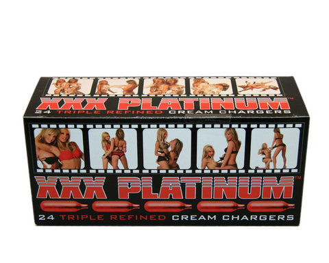 Xxx Platinum - Whip Cream Chargers - 24 Count - realistic enterprises llc