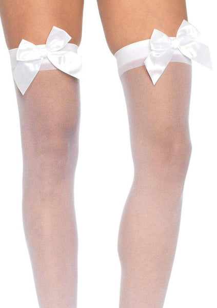 Sheer Thigh Highs - One Size - White - realistic enterprises llc