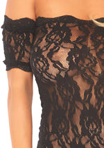 Strapless Lace Teddy - Black - Medium-large - realistic enterprises llc