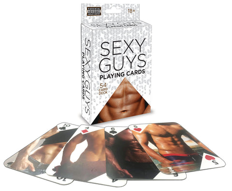 Sexy Guys Playing Cards 54 Card Deck - realistic enterprises llc