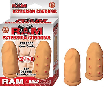 Ram Extension Condoms - Flesh