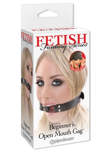 Fetish Fantasy Series Beginners Open  Mouth Gag - Black - realistic enterprises llc