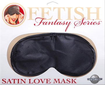 Satin Love Mask - Black