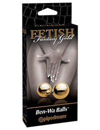 Fetish Fantasy Gold Ben-Wa Balls - Gold - realistic enterprises llc