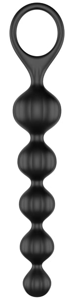 Satisfyer Beads Super Soft Silicone - Black - realistic enterprises llc