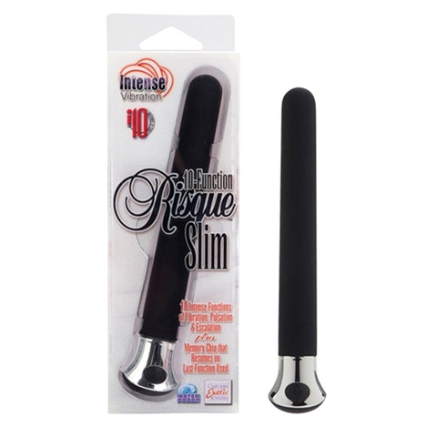 10-Function Risque Slim - Black - RealisticDildos.com