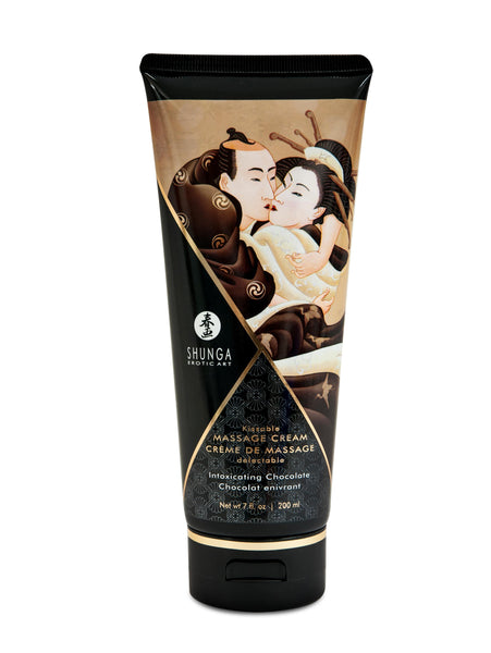 Kissable Massage Cream - Intoxicating Chocolate - 7 Fl. Oz. - 200 ml - RealisticDildos.com