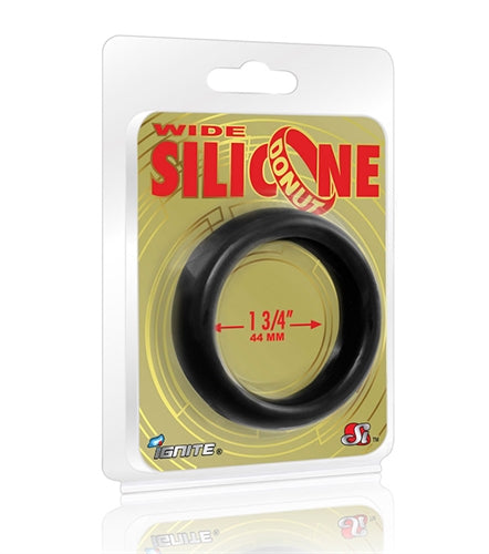 Wide Silicone Donut - Black - 1.75-Inch Diameter - realistic enterprises llc