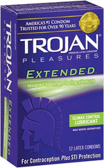 Trojan Pleasures Extended Pleasure - 12 Pack - realistic enterprises llc