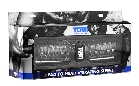Tom of Finland Head to Head Vibrating Sleeve - realistic enterprises llc