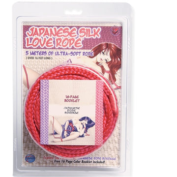 Japanese Silk Love Rope - 5m- 16 Ft - Red