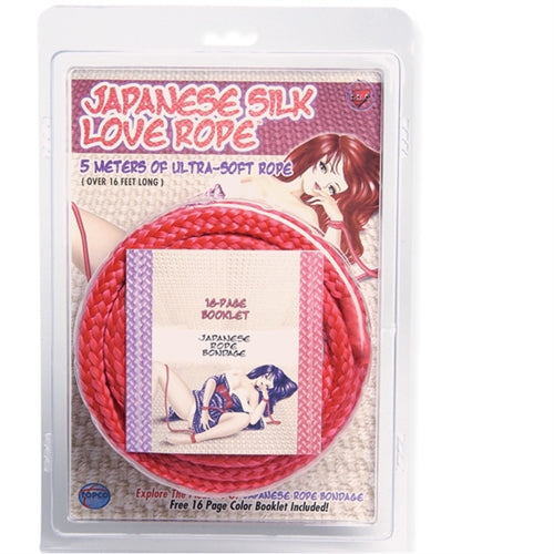 Japanese Silk Love Rope - 5m- 16 Ft - Red - RealisticDildos.com