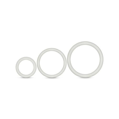 Performance - Vs4 Pure Premium Silicone Cockring Set - White - realistic enterprises llc
