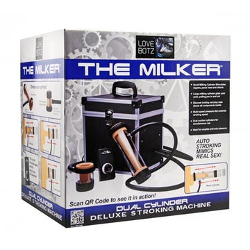 Love Botz the Milker Duel Cylinder Deluxe  Stroking Machine