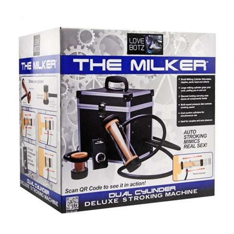 Love Botz the Milker Duel Cylinder Deluxe  Stroking Machine - realistic enterprises llc