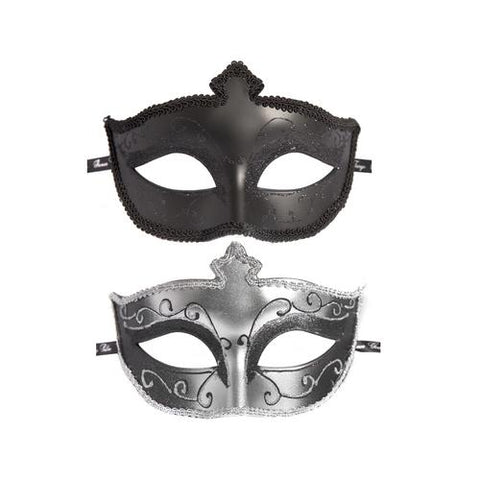 Fifty Shades of Grey Masks on Masquerade Mask Twin Pack - realistic enterprises llc