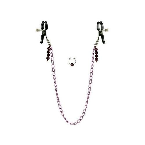 Purple Chain Nipple Clamps - realistic enterprises llc