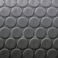 "8' 6"" wide Coin Pattern RV Flooring Grey"