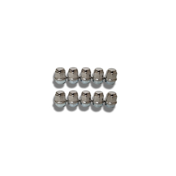ToughGrade 1/2 Chrome Lug Nut 3/4 Head 10 Pack