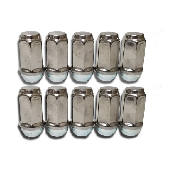 ToughGrade 9/16 Chrome Lug Nut 7/8 Hex Head 10 Pack