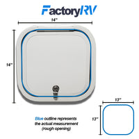 "13""Wide X  13""High 