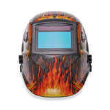 "KT Industries ""Flaming Skull "" Auto Darkening Welding Helmet (4-1071 Gen-II)"
