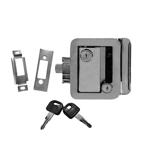 Chrome Rv Camper Trailer Motorhome Paddle Entry Door Lock Latch  Deadbolt