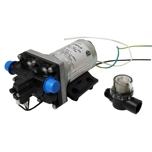 SHURFLO RV Marine Boat 115V 3.0GPM Water Pump 4008-171-A65/E65 Revolution with STRAINER