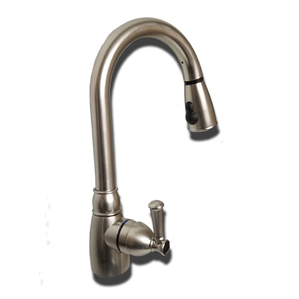 "Single-Handle Non-Metallic 8"" Kitchen Faucet with Pull-Down Spray UF08319"