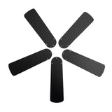 42-Inch Black/Blonde Replacement Fan Blades, Five-Pack
