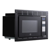 Tough Grade RV/Camper Microwave .9 CuFt with Trim Kit | Black