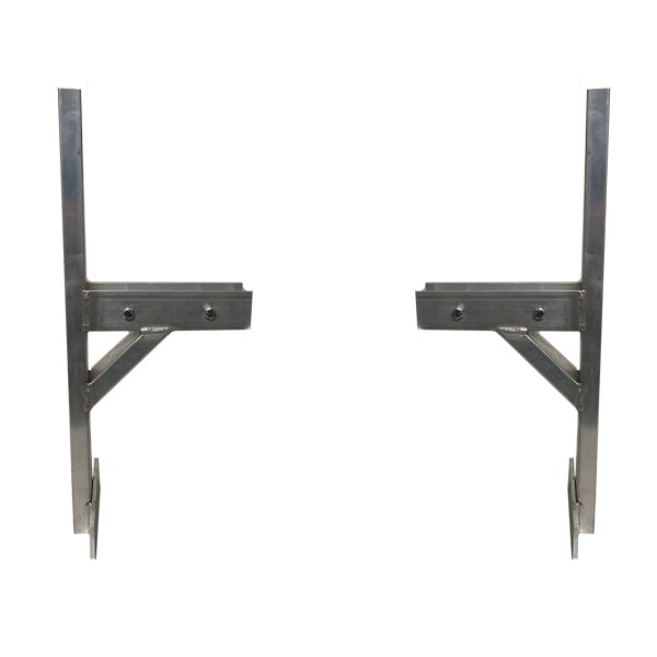 Universal Round Top Cargo Trailer Ladder Rack ( 2 Mounts with Mounting Screws)