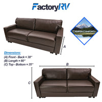 "Camper Comfort 80"" Rollout Sleeper Sofa 