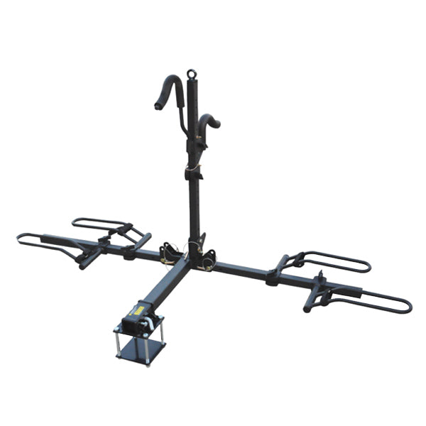 Platform Folding 2 Bike Carrier with Bumper Mount Hitch BC-202BA