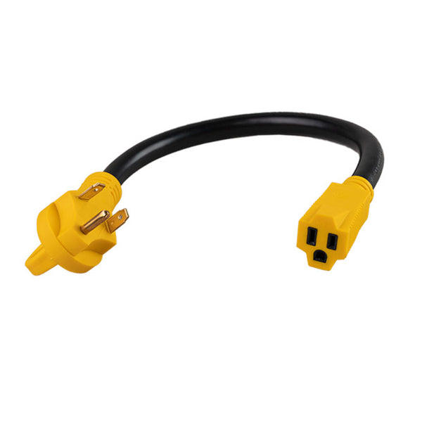 ToughGrade RV Adapter 30A Male to 15A Female 18in.