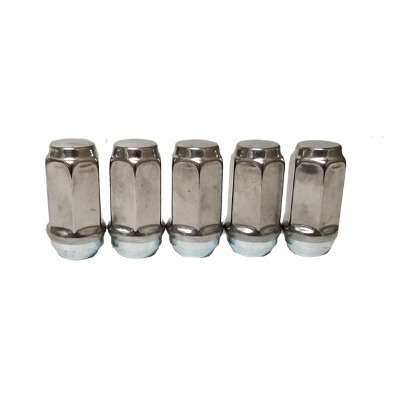 ToughGrade 9/16 Chrome Lug Nut 7/8 Hex Head 5 Pack