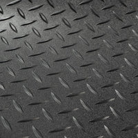 "8' 2"" wide Diamond Plate Pattern RV Flooring Black ""Select Length"""