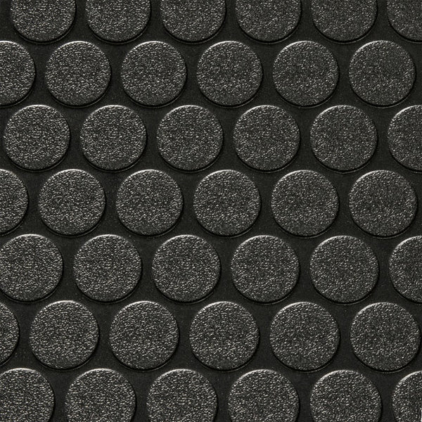 "8' 6"" Wide Coin Pattern RV Flooring Black"