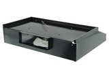Ventline S0721 Series Range Hood w/Light - 12V Fan - No Damper - 12x24 - Smooth Black