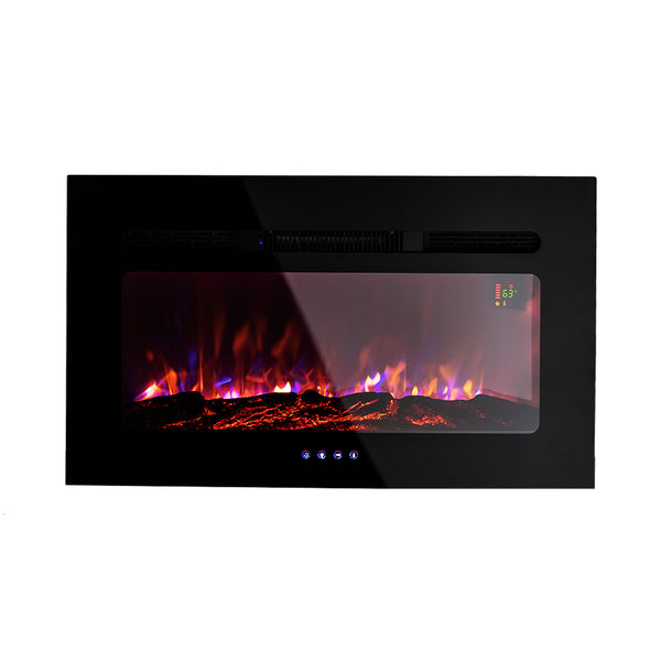 "Camper Comfort RV 30"" Log Design Flush Mount Fireplace 