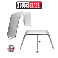 "2-Pack Aluminum Diamond Plate Flat Top Trailer Fenders 9"" X 36"" X 18"""