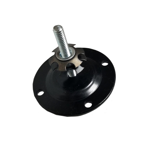 Round Black Pad w/ Bolt and Insert Nut  | RV Ladder Parts