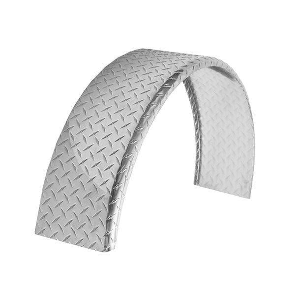 "Aluminum Diamond Plate Round Top Trailer Fender 10"" X 34"" X 17"""