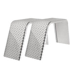 "2-Pack Aluminum Diamond Plate Flat Top Trailer Fenders 10"" X 36"" X 18"""