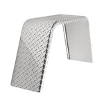"Aluminum Diamond Plate Flat Top Trailer Fender 10"" X 36"" X 18"""