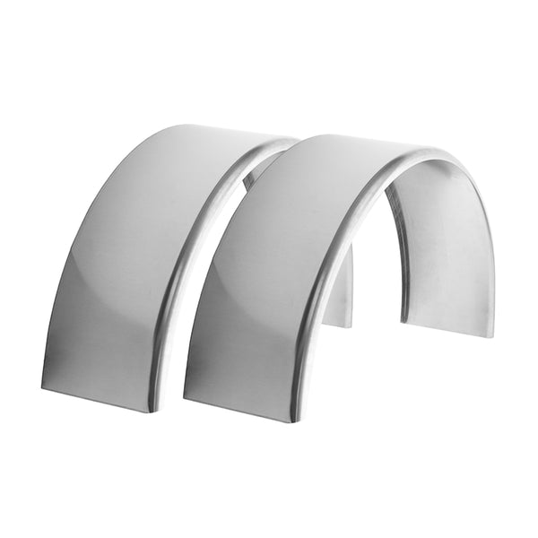 "2-Pack Aluminum Smooth Round Top Trailer Fender 9"" X 34"" X 17"""