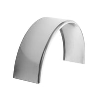 "Aluminum Smooth Round Top Trailer Fender 9"" X 34"" X 17"""
