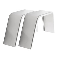 "2-Pack Aluminum Smooth Flat Top Trailer Fender 10"" X 34"" X 17"""