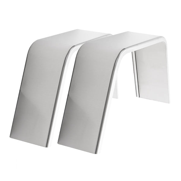 "2-Pack Aluminum Smooth Flat Top Trailer Fender 9"" X 36"" X 18"""